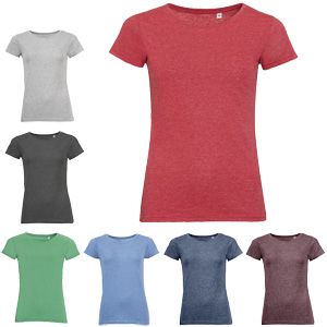 Codice 170043 - t-shirt fashion donna 65% poliestere 35% cotone taglio slim fit. No label. Disponibile in colore antracite, azzurro, blu navy