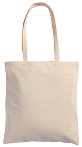 BORSA SHOPPER IN COTONE ORGANICO 140 GR