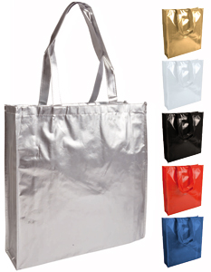 shopper in tnt laminato manici lunghi