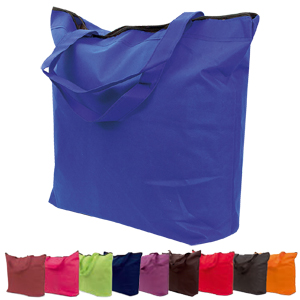 BORSA SHOPPER CON CERNIERA IN TNT