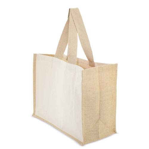 Borsa in cotone canvas con manici