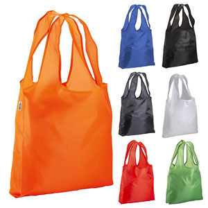 Shopper in rpet 210t ripiegabile; disponibile nei