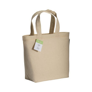 Shopper in cotone organico con manico