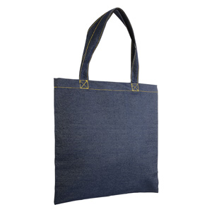 Shopper in denim 100% cotone