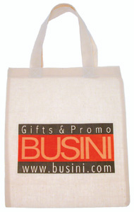 BORSA SHOPPER MINI IN COTONE NATURALE