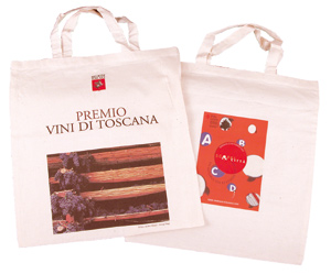 BORSA SHOPPER IN COTONE MANICI CORTI